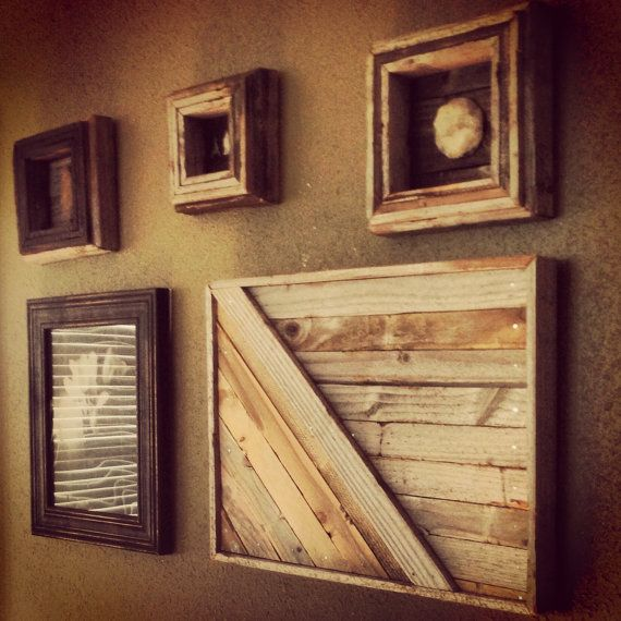 Reclaimed wood wall panel art - Wood panel artwork ...