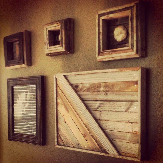 Reclaimed wood wall panel art - Wood panel artwork ...