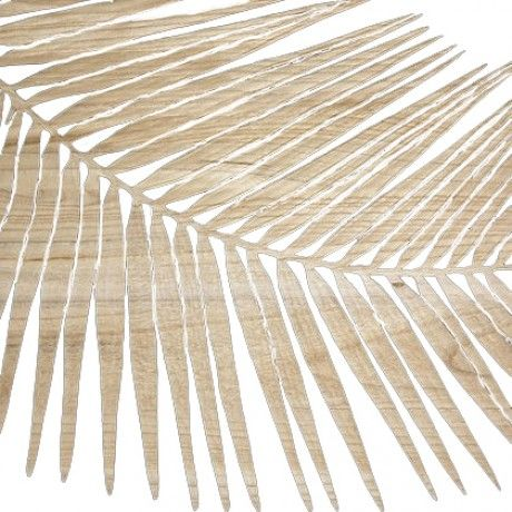 Leaf Detail Wall Art Mango Wood Decorating Lounge