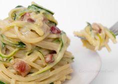 Pasta zucchine Philadelphia e pancetta   Ricetta Primo delizioso