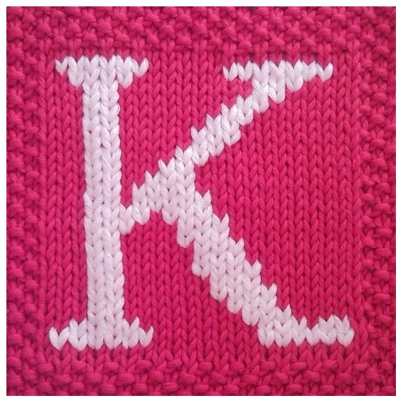 Knitting Pattern Alphabet Blanket : knitted afghan patterns PDF Knitting pattern capital ...