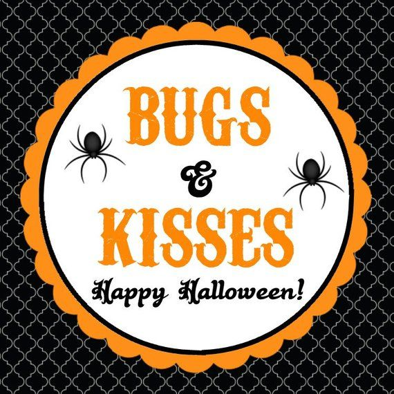 photograph relating to Bugs and Kisses Printable known as Halloween Desire Tags - Insects Kisses ( Electronic History, By yourself