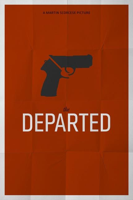 The Departed (2006) ~ Minimal Movie Poster by Pedro Vidotto #amusementphile