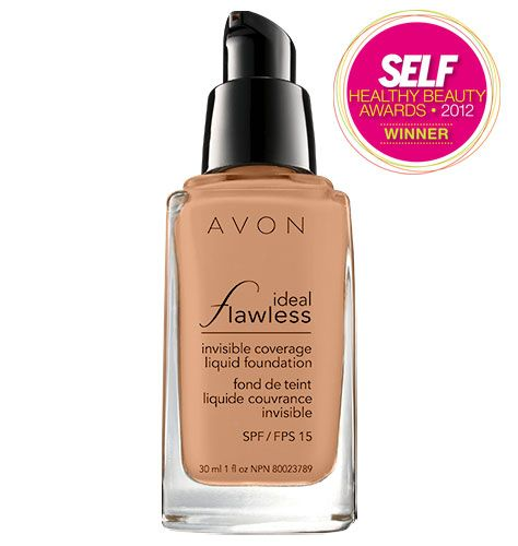 Ideal Flawless Invisible Coverage Liquid Foundation $11.00  INVISIBLEND TECHNOLOGY.  Avon's exclusive patent-pending technology with skin-matching pigments in various sizes and shapes, softens light from every angle for perfectly invisible coverage.