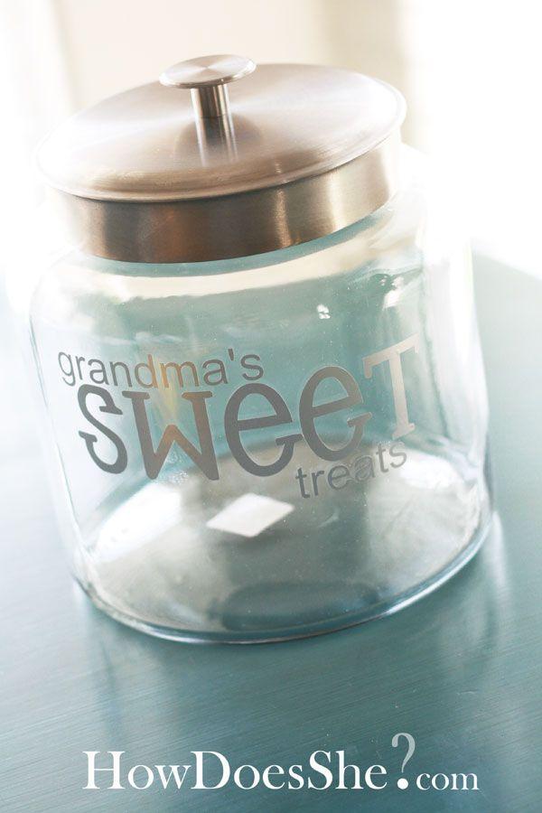 Grandmas Sweets Jar! Handmade Mother's Day Gift Ideas howdoesshe.com #mothersdayideas