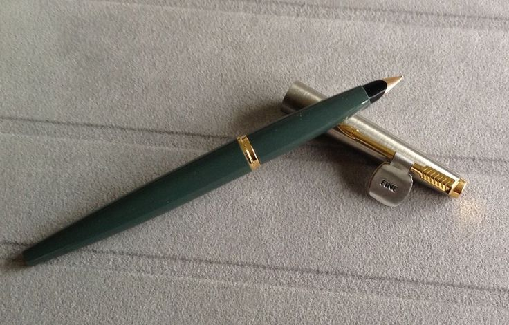 Parker 45 vintage pen,NEW old pen (appx. yrs 1960-70)Grey, fine,10k gold nib. | eBay