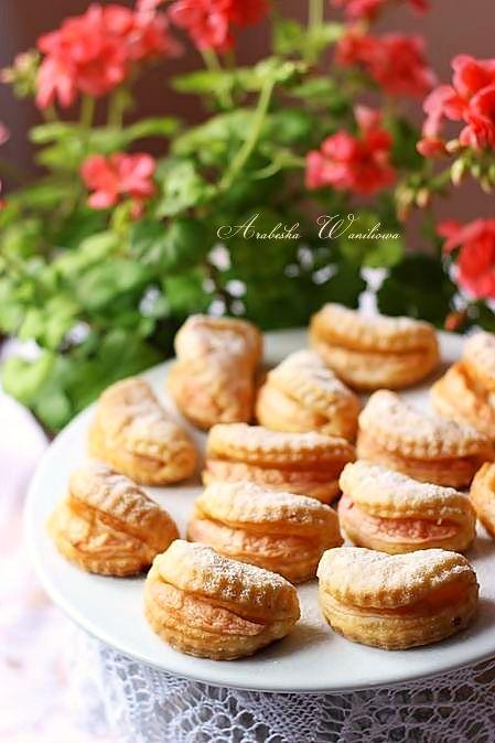 Serowe ciasteczka z jablkami