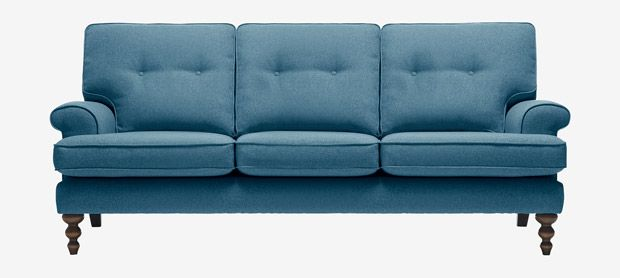 Clarence large sofa with fixed covers in Brisk teal