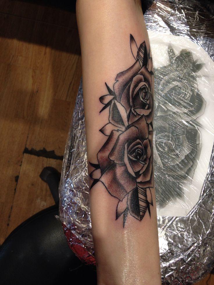 #roses #tattoo #blackandgrey