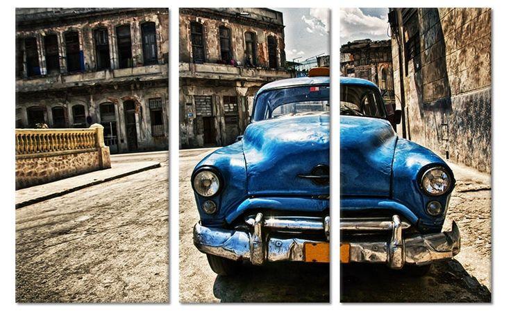 foto schilderij oude auto cuba op canvas canvas