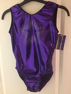 """NEW Purple 'Starburst' Leotard size 32"""" by Zodiac Leos"""