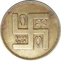 These American Swastika-bearing GoodLuck tokens were made from the 1910's through the 1930's.