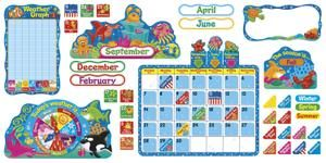 Sea Buddies™ Calendar Bulletin Board Set | T-8306