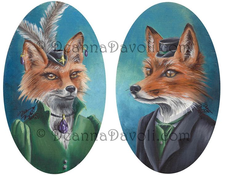Fox Art Print Mr Fox Mrs Fox Couple Victorian Foxes Fantasy Art Animal Art Foxes in Clothes 8.5x11 by deannadavoli on Etsy