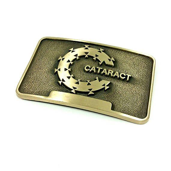 Vintage Brass Belt Buckle Cataract ADM Belt Buckle