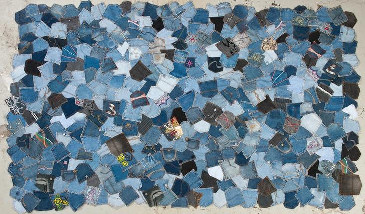 denim pockets -> rug. from http://brcdesigns.com/furniture/the-pockets-rug-collectionsBrc Design, Denim Pocket, A Mini-Saia Jeans, Ideas, Denim Jeans, Blue Jeans, Pocket Rugs, Jeans Pocket, Crafts