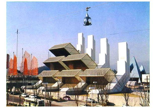 #Osaka 1970, #Worldsfair - Progresso e armonia per l'umanità.  Progetto di #TommasoValle e #GilbertoValle