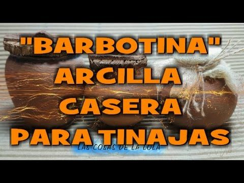 Como hacer arcilla casera para tinajas de imitación(barbotina) - IMITATI...