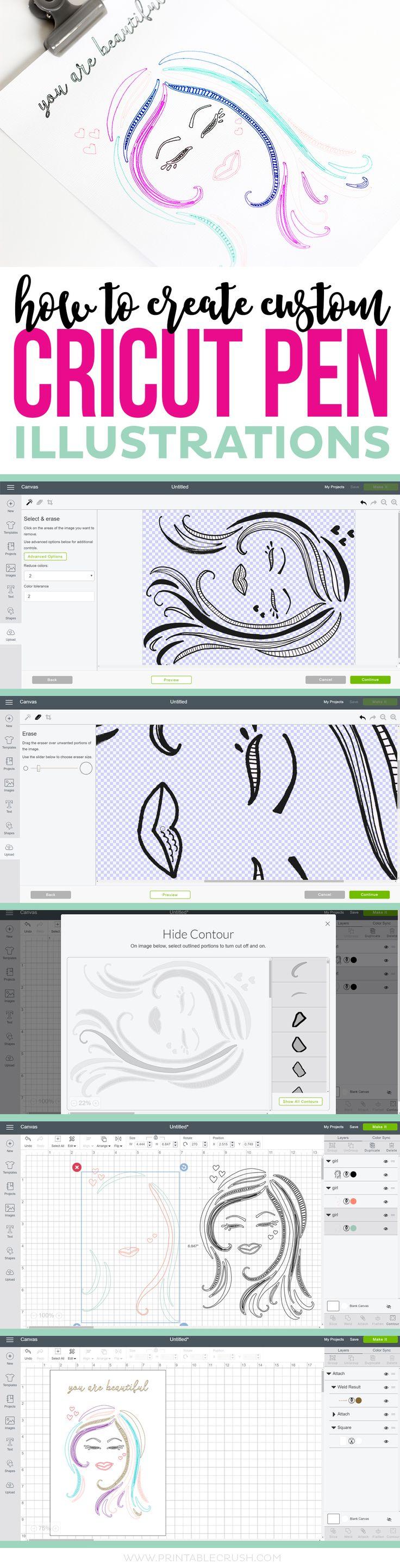 How to Create Custom Cricut Pen Illustrations - Printable Crush