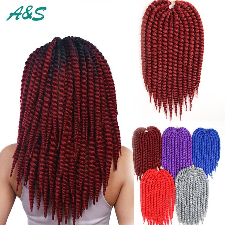 Crochet Braids Equipment : bug red Havana mambo twist crochet braid ombre hair kanekalon braiding ...