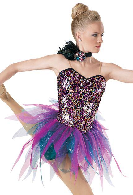 Weissman™ | Sequin Tattered Tulle Skirt Dress
