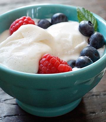 Low Fat Vanilla Bean Frozen Yogurt!!!! Yum |skinnytaste.com