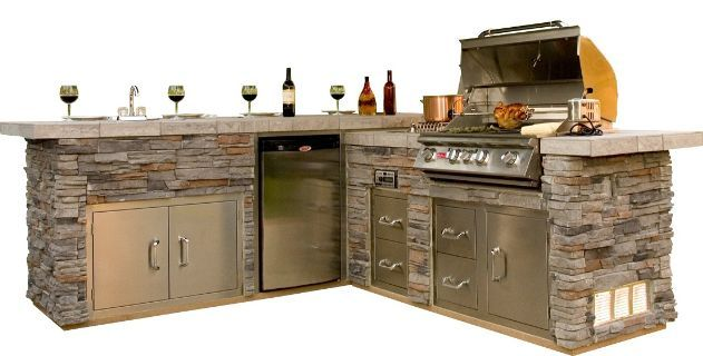 Outdoor Kitchen.  I saw this at HomeGoods for 999.99 not 4999.99