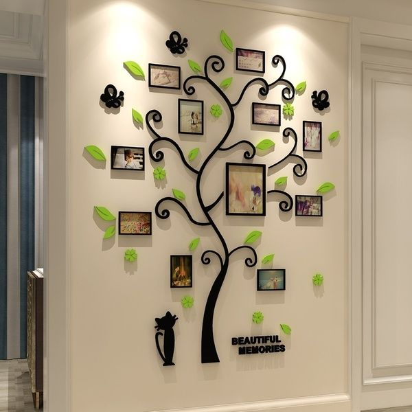 3d Acrylic Crystal Wall Stickers Living Room Bedroom Cozy Pictures Tree Stickers Creative Home Decoration Size Xl Wish In 2021 Wall Stickers Living Room Tree Wall Decal Family Tree Wall Decal