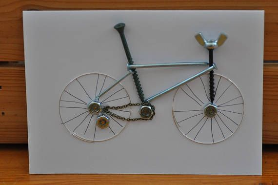 Hey, I found this really awesome Etsy listing at https://www.etsy.com/uk/listing/548056352/cycling-greetings-card-handmade-metal