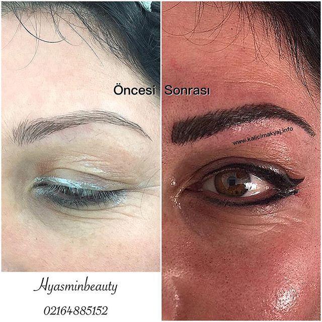 Bugünkü 26.10.2015 Kalıcı Makyaj Kaş Konturu  ve Eyeliner Uygulamamız Hyasminbeauty 02164885152 Kartal /İstanbul www.kalicimakyaj.info