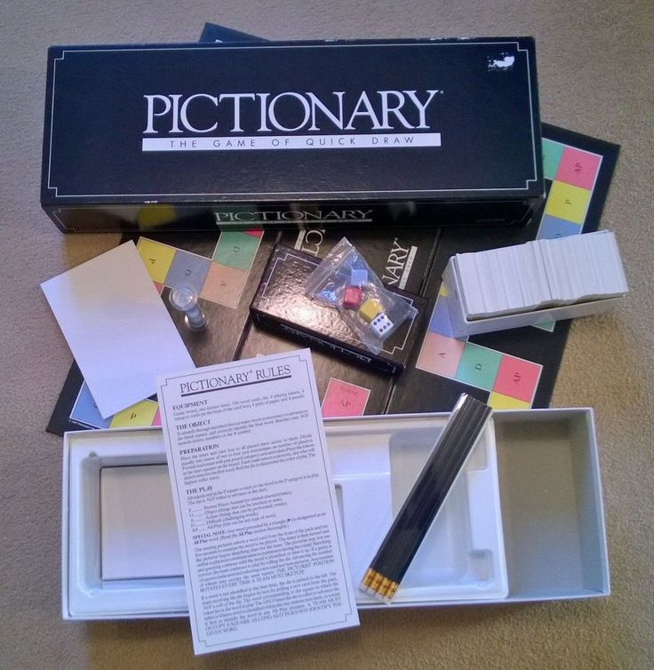 Vintage Pictionary by Parker. The Game of Quick Draw.