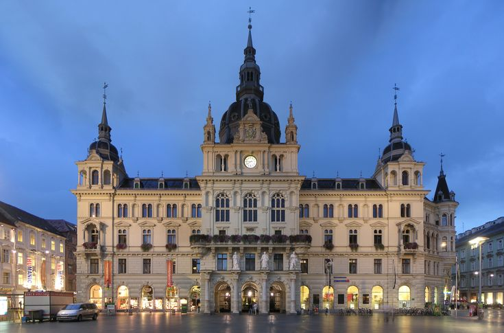Stadhuis (City Hall) Graz (Oostenrijk, Austria)