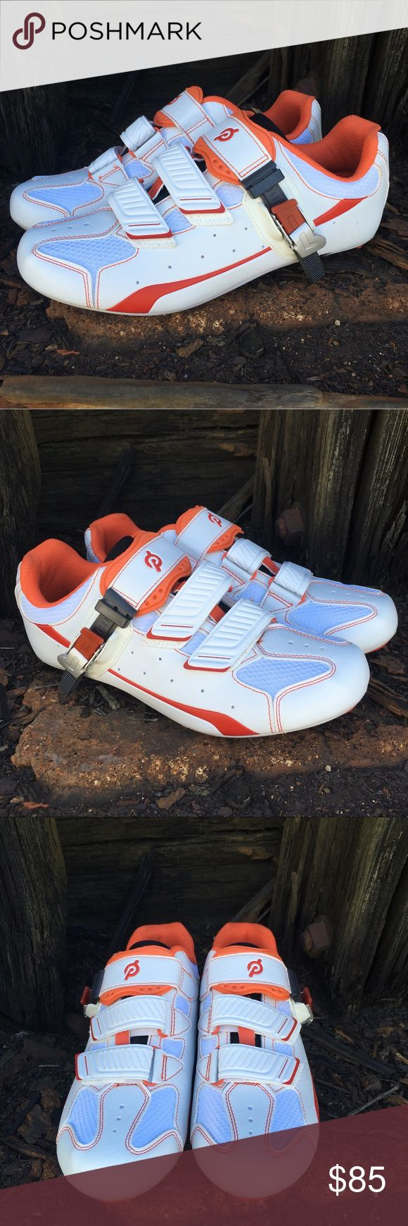 Peloton cycling spinning shoes plus new cleats Near perfect. Practically new  Trusted Peloton quality  Smoke and pet free storage   Happy to answer any questions   Thanks for looking Peloton Shoes Athletic Shoes