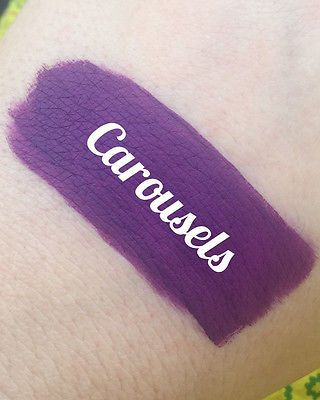 Mermaid Salon Carousels Velvet Lipstick Royal Purple Goth Gothic Matte Vegan