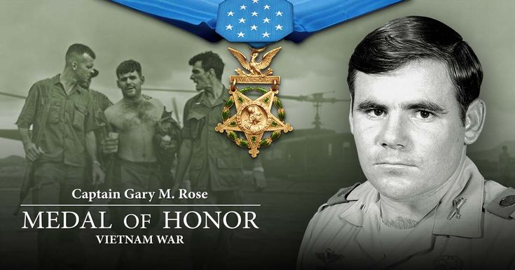 The official U.S. Army website for Captain Gary Michael Rose, nominated for the Medal of Honor for his heroic acts during the Vietnam War as a combat medic.