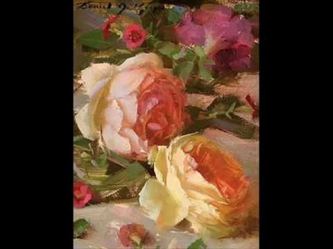 Youtube Lilies Oil Painting Daniel Keys