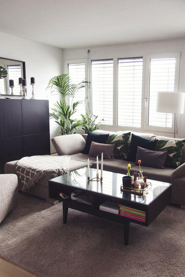 Die 25+ Besten Ideen Zu Industrie Stil Wohnzimmer Auf Pinterest ... Einrichtungsideen Wohnzimmer Mit Balken