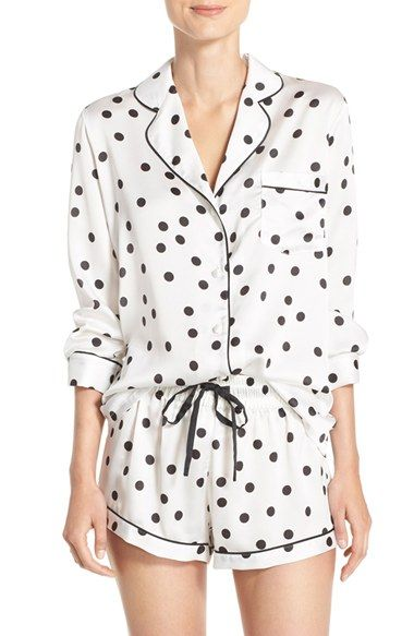 kate spade new york satin short pajamas