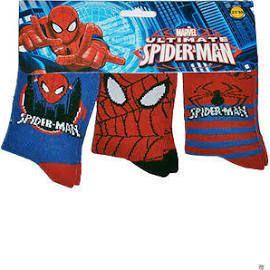 3 Pairs Spiderman Socks Boys Girls Socks Genuine Official