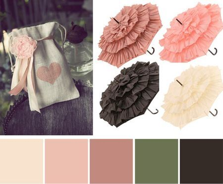 Color palette based on some favorite pins from my week of pinning