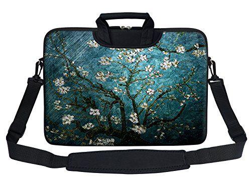 Meffort Inc Neoprene Laptop Shoulder Briefcase Bag Carry Case Handbag For 15 156 inch Macbook Notebook Computer  Vincent van Gogh Almond Blossoming * Learn more by visiting the image link.