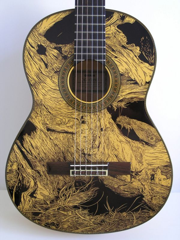 Interesting support for this drawing.  Google Image Result for http://cdn.visualnews.com/wp-content/uploads/2012/06/Art-Guitar-Drawings-Patrick-Fisher_01.jpg