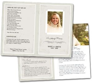 Best Funeral Program Samples Images On   Funeral