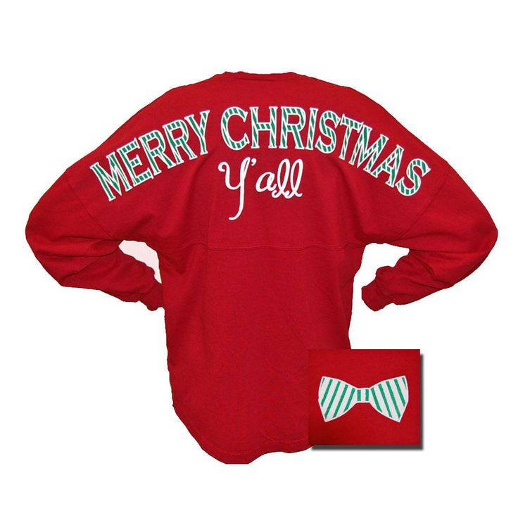 Merry Christmas Y ' All Long Sleeve Spirit Jersey