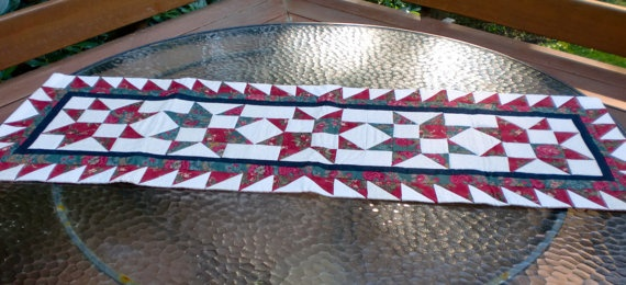 Audree's Stars Table Runner 15 1/2 x 46 by StacksOfStash on Etsy, $20.00