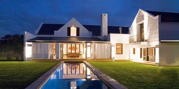 Modern house plans in a new architecture style that combines cape dutch with cape modern