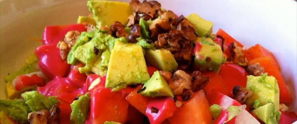 Papaya Avocado Salad | Healthy Foods | Pinterest