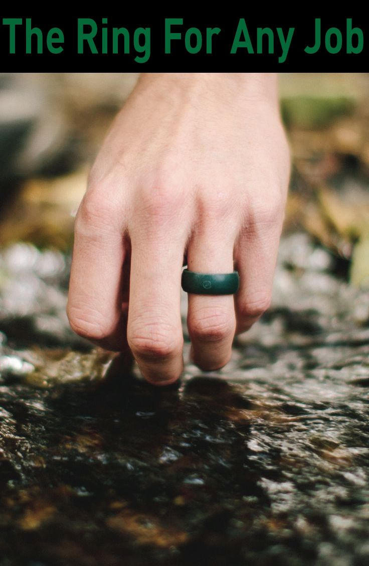 """Mens Outdoor Silicone Ring: QALO """"Outdoor"""" rings are so much more than a rubber ring. They are made from 100% medical grade silicone and provide a safe, functional alternative to the traditional metal wedding band."""