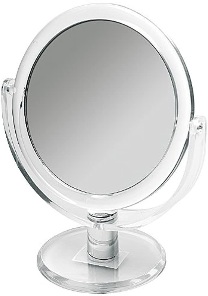 Doppelseitiger Kosmetex Acryl Kosmetik Spiegel 20cm Hoch Rund