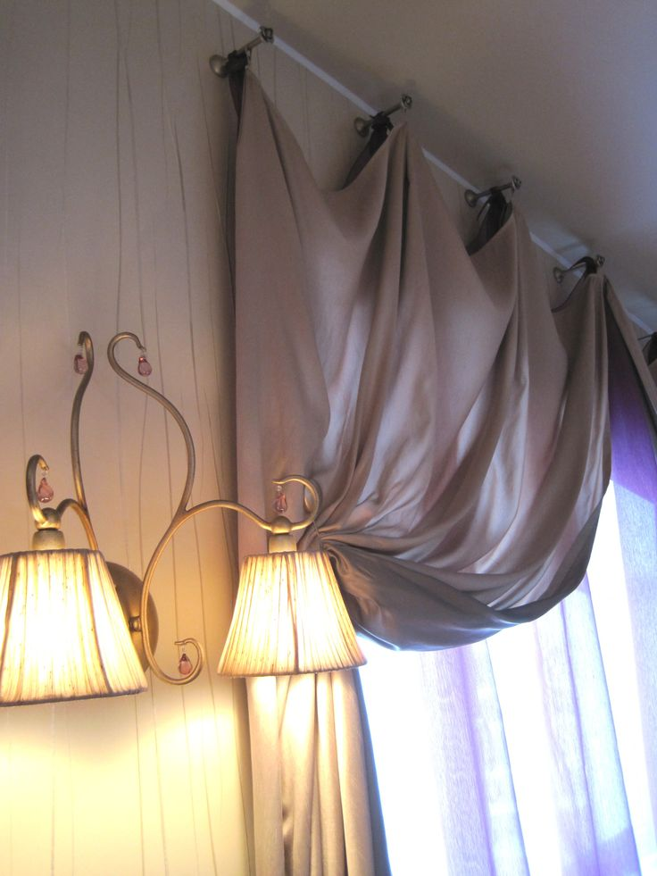 the curtains in the attic